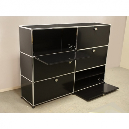 usm haller gebrauchte designer m bel sideboard schwarz mit. Black Bedroom Furniture Sets. Home Design Ideas