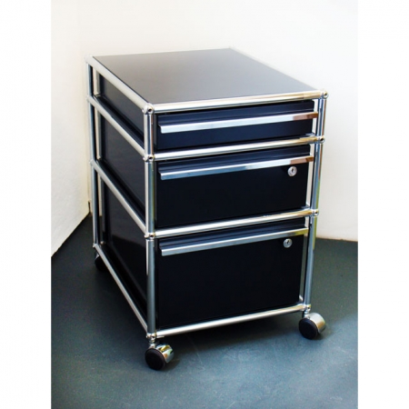 usm haller preiswerte b rom bel kaufen rollcontainer schwarz bei resale. Black Bedroom Furniture Sets. Home Design Ideas