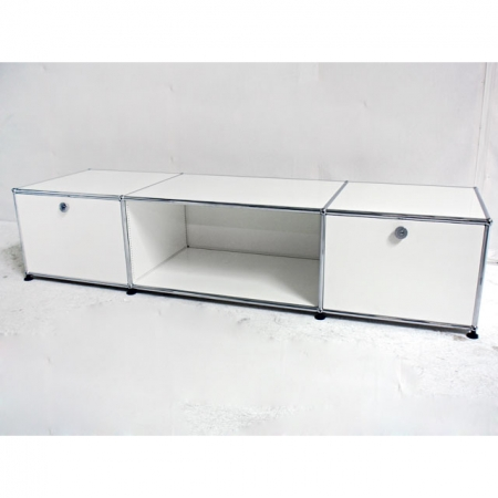 usm haller b rom bel lowboard tv sideboard in weiss bei resale. Black Bedroom Furniture Sets. Home Design Ideas