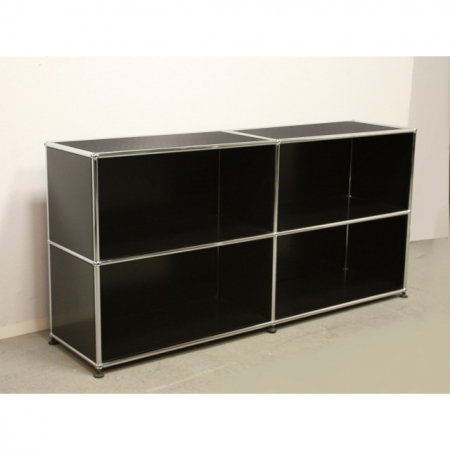 usm haller offenes regal 150 cm x 35 cm in schwarz bei resale. Black Bedroom Furniture Sets. Home Design Ideas