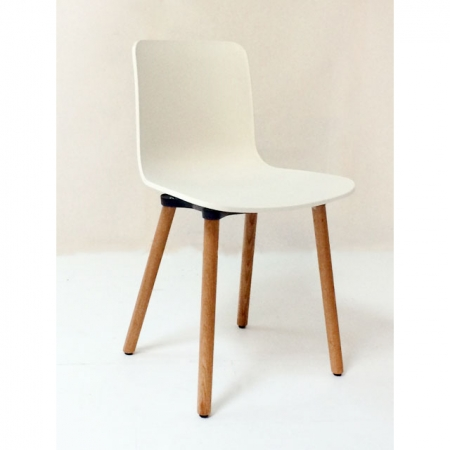 vitra b rom bel g nstig hal wood plastic side chair in weiss bei resale. Black Bedroom Furniture Sets. Home Design Ideas