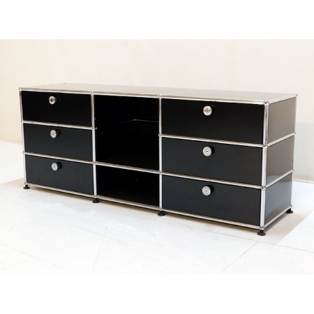 usm haller b rom bel g nstig lowboard mit schubladen in. Black Bedroom Furniture Sets. Home Design Ideas