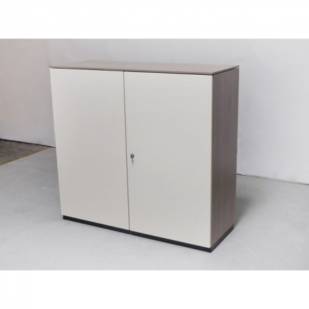 bene sideboard 120 cm 3 oh in weiss nussbaum bei. Black Bedroom Furniture Sets. Home Design Ideas